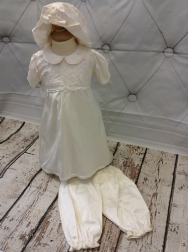 Silk Ivory Dress with Bead and Embroidery Bodice